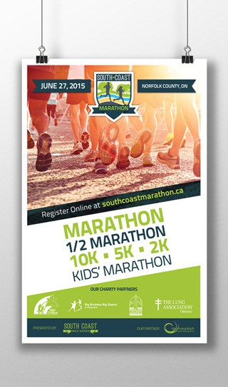 South Coast Marathon 11 x17 Poster