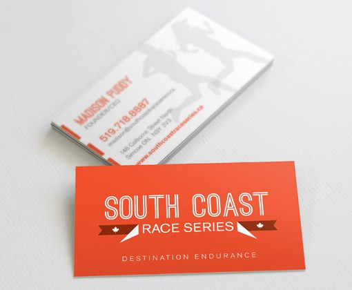 South Coast Race Series Business Cards