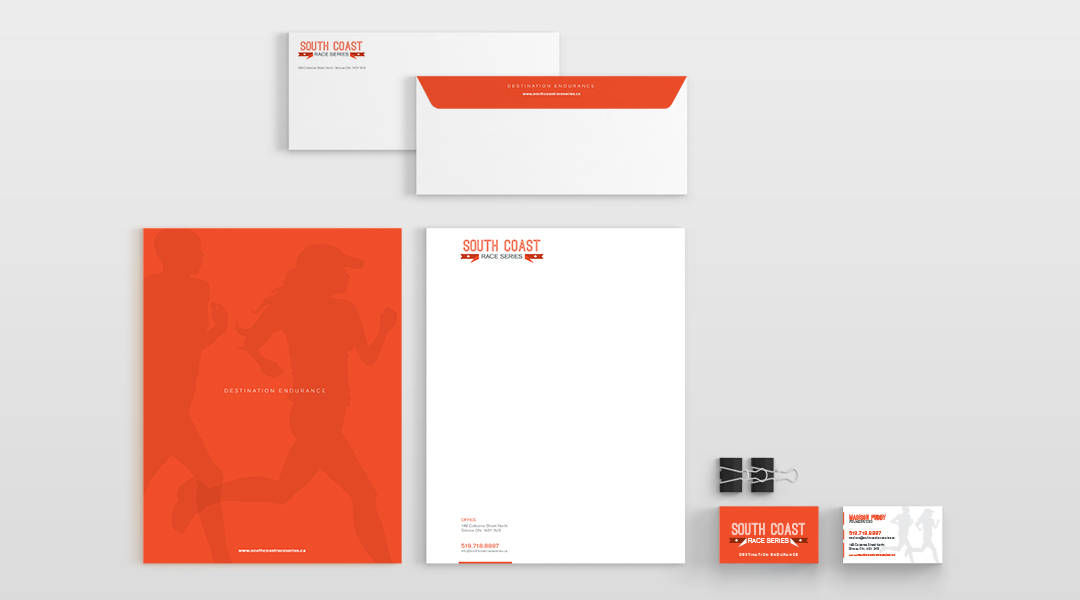 South Coast Race Series branded stationery pack