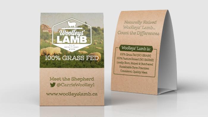 Woolleys' Lamb Tent Cards