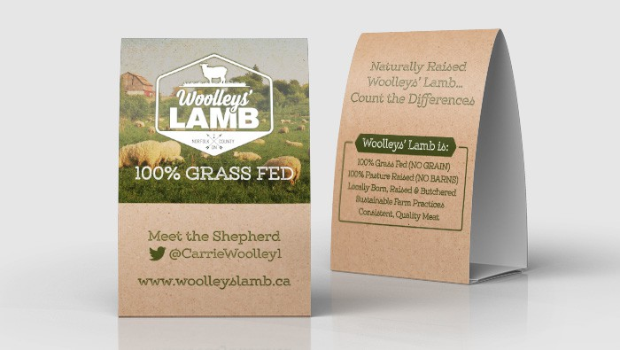 Woolleys' Lamb Tent Cards