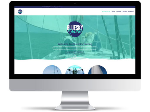 Blue Sky Sailing Web Design